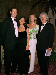Left to right, MR JAMES ARBIB, his sister MISS MELANIE ARBIB and their parents MR & MRS MARTYN ARBIB the multi millionaire unit trust dealer, at a ball in London on 22nd May 1997.LYO 24