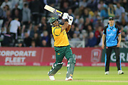 Samit Patel of Nottinghamshire Outlaws hitting big during the Vitality T20 Blast North Group match between Nottinghamshire County Cricket Club and Worcestershire County Cricket Club at Trent Bridge, West Bridgford, United Kingdon on 18 July 2019.