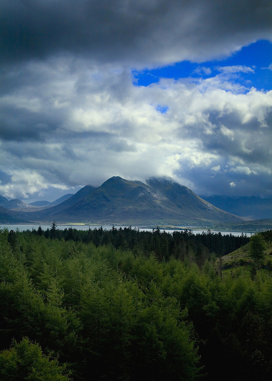A view of the Isle of Skye from Raasay.