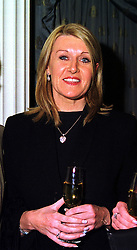 Fashion designer LOUISE KENNEDY at a party in London on 9th November 1999.<br /> MYW 9 WICO