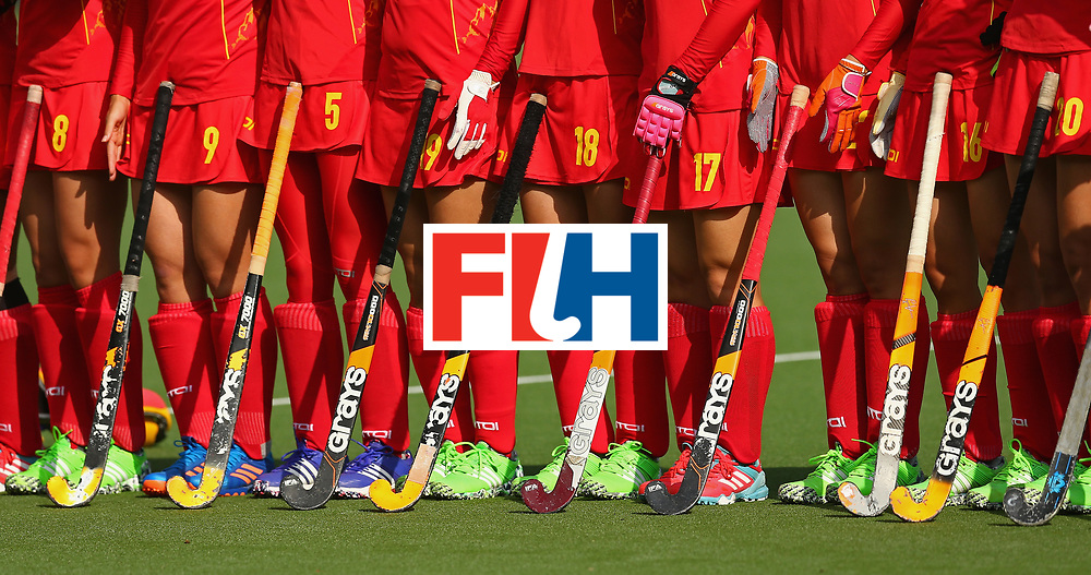 BRUSSELS, BELGIUM - JULY 02: View of the China players sticks and boots prior to the Final match between the Netherlands and China on July 2, 2017 in Brussels, Belgium. (Photo by Steve Bardens/Getty Images for FIH)