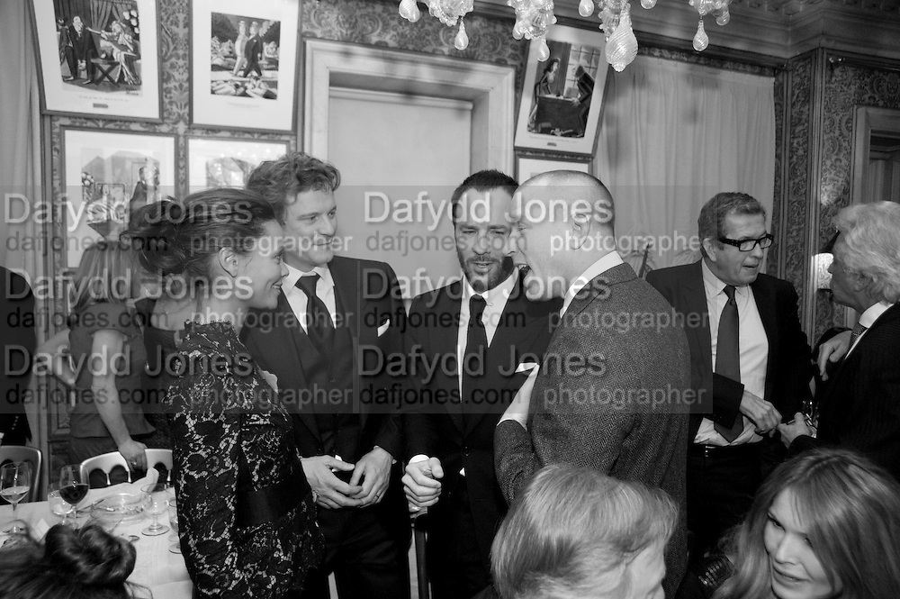 THANDIE NEWTON; COLIN FIRTH; GUY RITCHIE; TOM FORD, Graydon Carter hosts a diner for Tom Ford to celebrate the London premiere of ' A Single Man' Harry's Bar. South Audley St. London. 1 February 2010