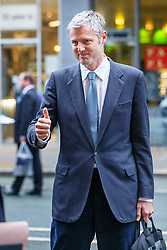© Licensed to London News Pictures. 05/10/2015. Manchester, UK. Zac Goldsmith attending to Conservative Party Conference at Manchester Central in Manchester on Monday, 5 October 2015. Photo credit: Tolga Akmen/LNP