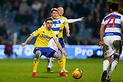 Leeds United midfielder Pablo Hernandez (19) in action  during the EFL Sky Bet Championship match between Queens Park Rangers and Leeds United at the Loftus Road Stadium, London, England on 26 February 2019.