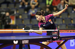 30.01.2016, Max Schmeling Halle, Berlin, GER, German Open 2016, im Bild Yang Wu (CHN) bei der Ballannahme // during the table Tennis 2016 German Open at the Max Schmeling Halle in Berlin, Germany on 2016/01/30. EXPA Pictures © 2016, PhotoCredit: EXPA/ Eibner-Pressefoto/ Wuest<br /> <br /> *****ATTENTION - OUT of GER*****