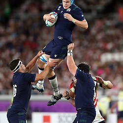 Scott Cummings of Scotland during the Rugby World Cup Pool A  match between Japan and Scotland, Pool A at the International Stadium Yokohama,Yokohama City Saturday 13th October  2019 (Mandatory Byline Steve Haag Sports Hollywoodbets)