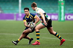 Alex Bartley (Solihull School) of Worcester Warriors U18 runs with the ball - Mandatory by-line: Robbie Stephenson/JMP - 22/01/2017 - RUGBY - Sixways Stadium - Worcester, England - Worcester Warriors U18 v Northampton Saints U18 - Premiership Rugby U18 Academy League