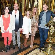 NLD/Amsterdam//20140327 - Presentatie deelnemers Op Zoek naar God 2014, Lange Frans Frederiks, dj 100% Isis van der Wel, Maik de Boer, Zimra Geurts en Inge de Bruin