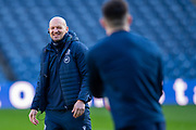 Scotland head coach, Gregor Townsend is all smiles during the Scotland Captain's Run at BT Murrayfield Stadium, Edinburgh, Scotland on 7 February 2020, ahead of the Six Nations match against England.