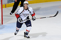 KELOWNA, CANADA, OCTOBER 5: Mitch Topping #25 of the Tri City Americans skates on the ice against the Kelowna Rockets on October 5, 2011 at Prospera Place in Kelowna, British Columbia, Canada (Photo by Marissa Baecker/shootthebreeze.ca) *** Local Caption ***Mitch Topping;