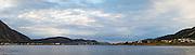Panorama of Remøy bridge, Herøy, Norway | Panoramabilda av Nørdre Vaulen, sett sammen av 8 exponeringer. 9968 pixler på langsida. Remøya på høgre side , og Leinøya på venstre side.
