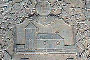 Gravestone at Dutch Church in Vaddukoddai in Jaffna.