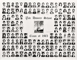 1983 Yale Divinity School Senior Portrait Class Group Photograph
