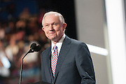 July 18, 2016 - Cleveland, Ohio: Alabama Senator Jeff Sessions speaking at the Republican National Convention.