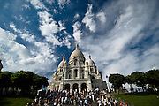 The basilica of Sacre Coeur in Paris, France