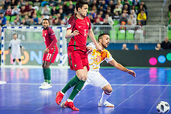 Joselito of Spain and Andre Coelho of Portugal during futsal match between Spain and Portugal in Final match of UEFA Futsal EURO 2018, on February 10, 2018 in Arena Stozice, Ljubljana, Slovenia. Photo by Ziga Zupan / Sportida