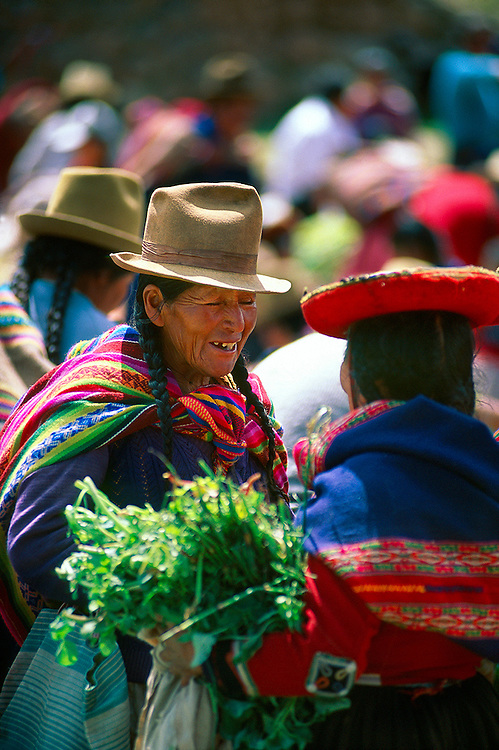 Sunday Indian Market (all trading done by barter), Chincero, Sacred Valley of the Incas, Peru