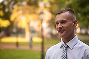 Photographs of Student Ambassadors for the Ohio University College of Business throughout the College Green region of the Ohio University campus in Athens, Ohio on Oct. 8, 2015. © Ohio University / Photo by Joel Prince