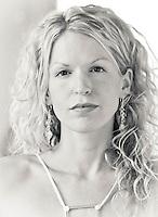 Portrait of Sara Pickering, model and graphic designer. 2005