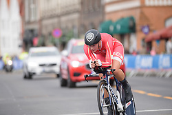 Emma Norsgaard Jorgensen at UCI Road World Championships Junior Women's Individual Time Trial 2017 a 16.1 km time trial in Bergen, Norway on September 18, 2017. (Photo by Sean Robinson/Velofocus)