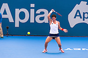 CARLA SUAREZ NAVARRO OF SPAIN AT 2015 APIA SYDNEY INTERNATIONAL Andy Cheung – SMP IMAGES.COM - 12th January 2015 - Womens Main Draw. This image is for Editorial Use Only. Any further use or individual sale of the image must be cleared by application to the Manager Sports Media Publishing (SMP Images). NO UNAUTHORISED COPYING : PHOTO SMP IMAGES.COM