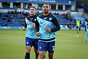 Wycombe Wanderers Darius Charles(21) and Wycombe Wanderers Adam El-Abd(6) warming up before the EFL Sky Bet League 1 match between Wycombe Wanderers and Peterborough United at Adams Park, High Wycombe, England on 3 November 2018.
