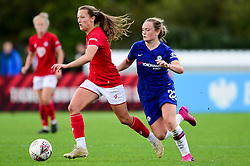 Charlie Wellings of Bristol City is marked by Erin Cuthbert of Chelsea Women - Mandatory by-line: Ryan Hiscott/JMP - 29/09/2019 - FOOTBALL - SGS College Stoke Gifford Stadium - Bristol, England - Bristol City Women v Chelsea Women - FA Women's Super League