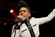 Janelle Monae performs during the Summer Spirit Festival at Merriweather Post Pavilion in Columbia, MD on Saturday, August 2, 2014.