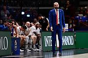 Maurizio BUSCAGLIA<br /> A|X Armani Exchange Olimpia Milano - Grissin Bon Reggio Emilia<br /> Basket Serie A LBA 2019/2020<br /> Milano 01 December 2019<br /> Foto Mattia Ozbot / Ciamillo-Castoria