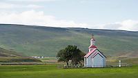 Church at Húnaver, North Iceland.