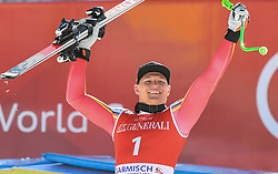 26.10.2019, Kandahar, Garmisch, GER, FIS Weltcup Ski Alpin, Abfahrt, Herren, Siegerehrung, im Bild Thomas Dressen (GER) Sieger // Thomas Dressen of Germany winner during the winner ceremony for the men's downhill of FIS Ski Alpine World Cup at the Kandahar in Garmisch, Germany on 2019/10/26. EXPA Pictures © 2020, PhotoCredit: EXPA/ Erich Spiess
