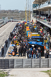 February 12, 2019 - U.S. - AUSTIN, TX - FEBRUARY 12: View of the pits with Scott Dixon (9) in a Honda powered Dallara IR-12 at the first pit during the IndyCar Spring Training held February 11-13, 2019 at Circuit of the Americas in Austin, TX. (Photo by Allan Hamilton/Icon Sportswire) (Credit Image: © Allan Hamilton/Icon SMI via ZUMA Press)