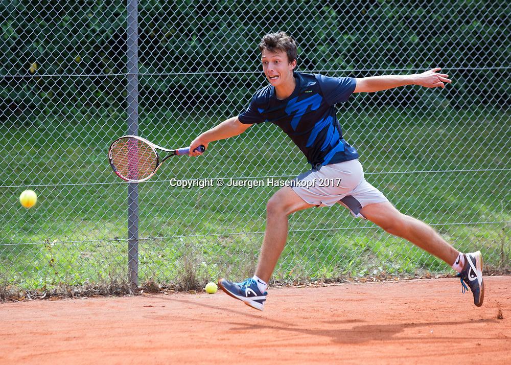 JOSHUA ROTH (GER), Bavarian Junior Open 2017, Tennis Europe Junior Tour, BS 16<br /> <br /> Tennis - Bavarian Junior Open 2017 - Tennis Europe Junior Tour -  SC Eching - Eching - Bayern - Germany  - 8 August 2017. <br /> &copy; Juergen Hasenkopf