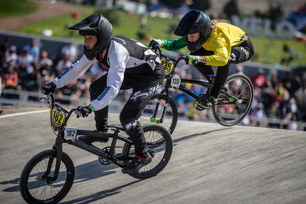 15 Boys #182 (BEARMAN Rico) NZL at the 2018 UCI BMX World Championships in Baku, Azerbaijan.