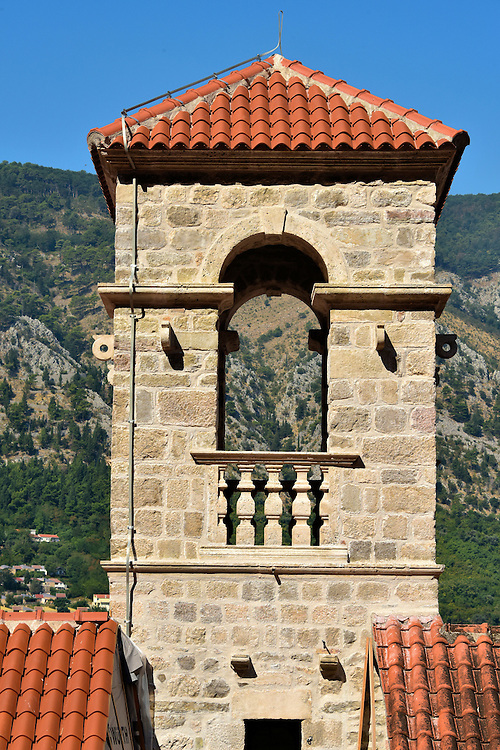 St. Francis Monastery Tower in Kotor, Montenegro <br />
