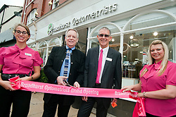 Mike Broadhurst and Image Consultant Cliff Bashforth open the new  Broadhurst Optometrists  in Preston which opened on Saturday ..18 August 2012.Image © Paul David Drabble