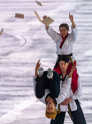 09.02.2018, Olympic Stadium, Pyeongchang, KOR, PyeongChang 2018, Eröffnungsfeier, im Bild Kampfkünstler // Martial artists during the Opening Ceremony of the Pyeongchang 2018 Winter Olympic Games at the Olympic Stadium in Pyeongchang, South Korea on 2018/02/09. EXPA Pictures © 2018, PhotoCredit: EXPA/ Johann Groder
