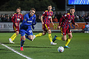 AFC Wimbledon striker Joe Pigott (39) dribbling into box during the EFL Sky Bet League 1 match between AFC Wimbledon and Ipswich Town at the Cherry Red Records Stadium, Kingston, England on 11 February 2020.