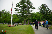 Memorial Day service at Oakland Cemetery in Meredith Center, NH.  (Karen Bobotas/for the Laconia Daily Sun)