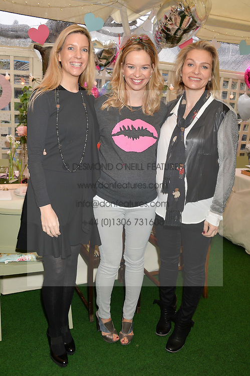 Left to right, SARAH CHAPMAN, MARISSA HERMER and EMMA O'BYRNE  at a ladies Valentine's Breakfast to launch the new healthy food menu at royal favourite restaurant Bumpkin, 119 Sydney Street, London on 14th February 2014.