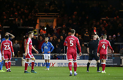 Mark Beevers of Peterborough United is shown a red card by the match referee - Mandatory by-line: Joe Dent/JMP - 11/01/2020 - FOOTBALL - Weston Homes Stadium - Peterborough, England - Peterborough United v Gillingham - Sky Bet League One