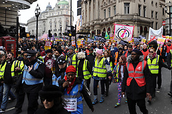 Demonstrators assembled in Park Lane before marching in support of UN anti racism day to Whitehall. The march was organised by the campaign group Stand up to Racism. Westminster, London, 16th March 2019.