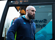 Leinster's Scott Fardy arrives at the stadium<br /> <br /> Photographer Simon King/Replay Images<br /> <br /> Guinness PRO14 Round 19 - Ospreys v Leinster - Saturday 24th March 2018 - Liberty Stadium - Swansea<br /> <br /> World Copyright © Replay Images . All rights reserved. info@replayimages.co.uk - http://replayimages.co.uk