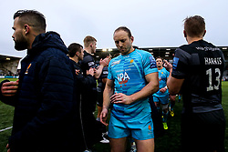 Chris Pennell of Worcester Warriors walks through a guard of honour formed by the Newcastle Falcons players - Mandatory by-line: Robbie Stephenson/JMP - 03/03/2019 - RUGBY - Kingston Park - Newcastle upon Tyne, England - Newcastle Falcons v Worcester Warriors - Gallagher Premiership Rugby