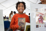 View from behind my author table #1: My very most happy reader that came to the Chappaqua Children's Book Festival yesterday. It was a win-win.