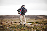 AKUREYRI, ICELAND AUGUST 2013:<br />Dangoor Next generation programme in north west Iceland, Ebenezer Kadejoh, team Giant,Aug 2013.<br />@Giulio Di Sturco