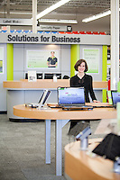 Christine Komola, CFO of Staples photographed in a Staples store in Natick, MA.