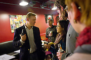 John Dickerson speaks with fans at Grinnell College after the taping of Slate's Political Gabfest on December 7, 2011.