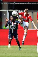 23-08-2015 VOETBAL:AZ-WILLEM II:ALKMAAR <br /> Eredivisie 2015-2016 <br /> <br /> Mattias Johansson van AZ in duel met Lesley de Sa van Willem II <br /> <br /> Foto: Geert van Erven
