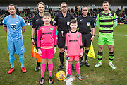 Mascot and officials  during the EFL Sky Bet League 2 match between Forest Green Rovers and Coventry City at the New Lawn, Forest Green, United Kingdom on 3 February 2018. Picture by Shane Healey.